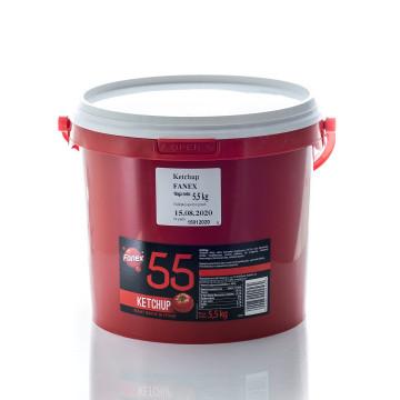 Ketchup łagodny wiadro 5500g FANEX