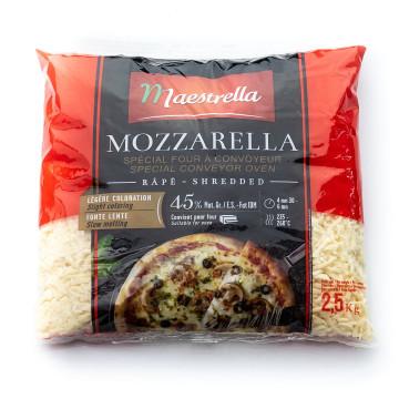 Ser mozzarella 45% MAESTRELLA PREMIO wiórki 2,5/10