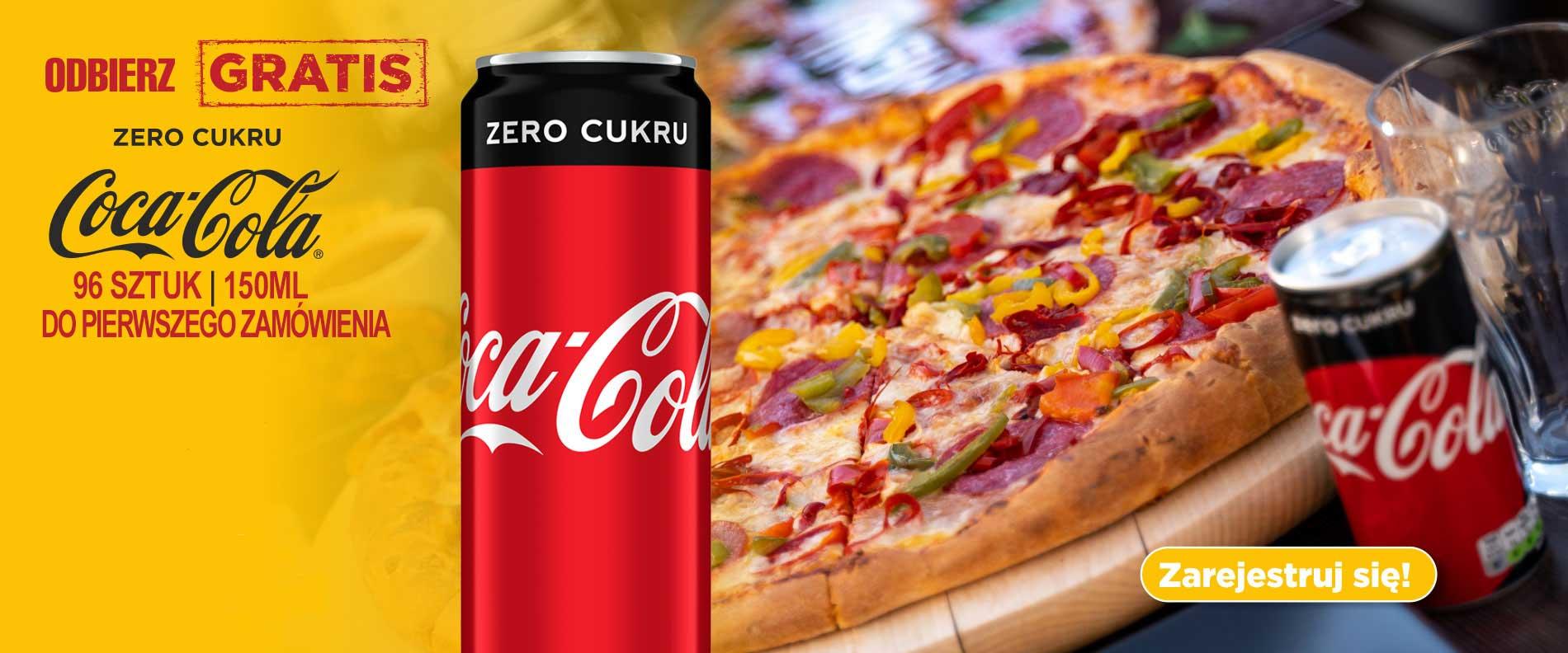 Coca-Cola gratis przy rejestracji